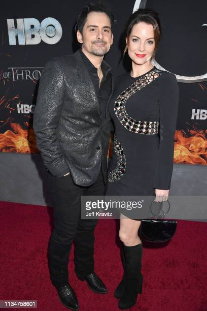 Brad Paisley and Kimberly WilliamsPaisley attend the Game Of Thrones Season 8 NY Premiere on April 3 2019 in New York City