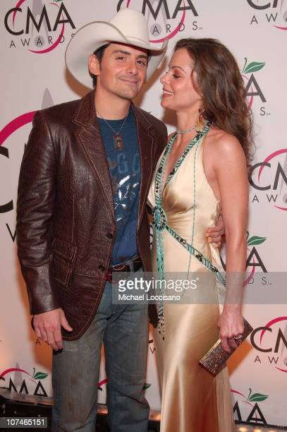 Brad Paisley and Kimberly WilliamsPaisley during The 39th Annual CMA Awards Arrivals at Madison Square Garden in New York City New York United States