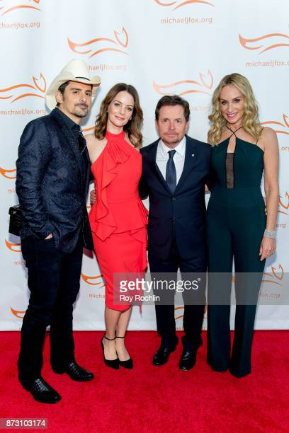 Brad Paisley Kimberly WilliamsPaisley Michael J Fox and Tracy Pollan attend the 2017 a funny thing happened on the way to cure Parkinson's...