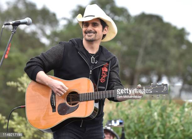 Brad Paisley performs during 2019 Live In The Vineyard Goes Country at Regusci Winery on May 14 2019 in Napa California