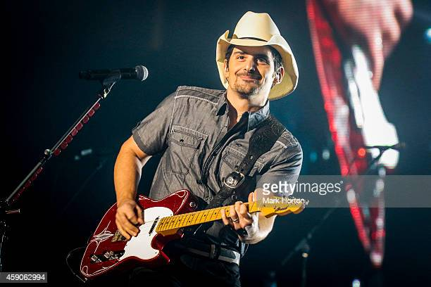 Brad Paisley performs live at the KRock Centre on November 15 2014 in Kingston Ontario Canada