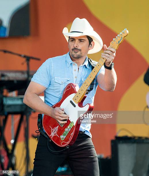 Brad Paisley performs on ABC's 'Good Morning America' at SummerStage at Rumsey Playfield Central Park on June 24 2016 in New York City