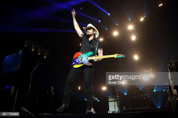 Brad Paisley performs on day one of C2C Country to Country 2017 festival at the O2 Arena on March 10 2017 in London United Kingdom