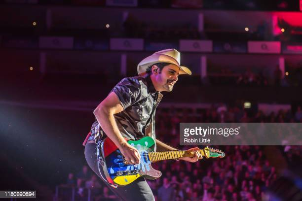 Brad Paisley performs on stage at The O2 Arena on October 12 2019 in London England