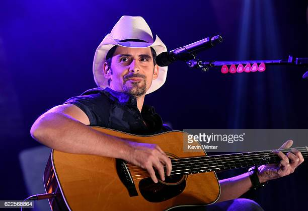 Brad Paisley performs onstage during iHeartCountry Live presented by Citi MasterPass at iHeartRadio Theater on November 11 2016 in Burbank California