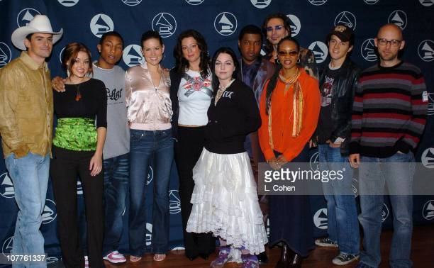 Brad Paisley Stacie Orrico Pharrell Williams Dido Sarah McLachlan Amy Lee Kenny 'Babyface' Edmonds MC Lyte Steve Vai Jason Mraz and Moby