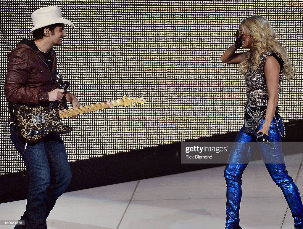 Carrie Underwood With Hunter Hayes In Concert : News Photo