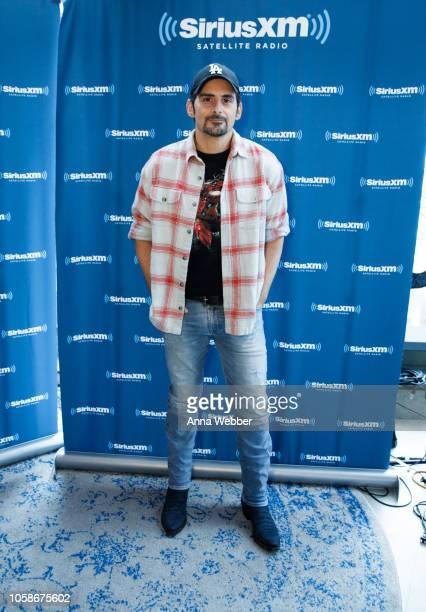 Brad Paisley Visits SiriusXM Nashville at SiriusXM Studios on November 7 2018 in Nashville Tennessee