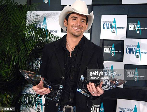Brad Paisley Winner of Musical Event of the Year Award for When I Get Where I'm Going and Album of the Year Award for 'Time Well Wasted' produced by...