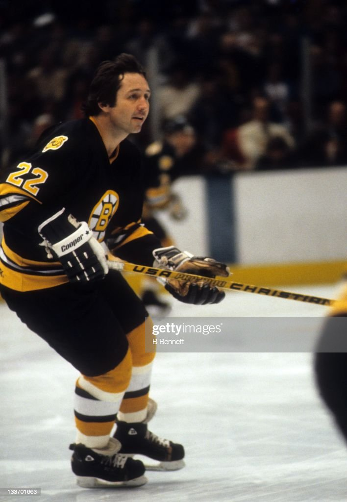 on sale 56536 1074e Brad Park of the Boston Bruins skates on the ice during Game ...