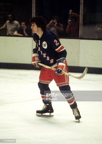 Brad Park of the New York Rangers skates on the ice during an NHL game circa 1976
