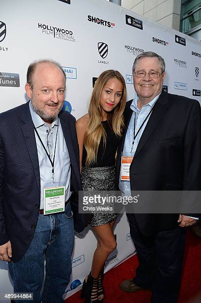 Brad Parks actress Skylar Stecker and Rod Beaudoin attend the opening night of the Hollywood Film Festival at ArcLight Hollywood on September 24 2015...