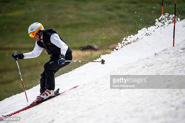 Brad Pech of Denver competes in the 49th running of the Epworth Cup an unofficial ski race atop Corona Pass on Sunday July 13 2014 in Winter Park CO...