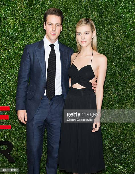 Brad Peltz and actress Nicola Peltz attend the 2014 God's Love We Deliver Golden Heart Awards at Spring Studios on October 16 2014 in New York City