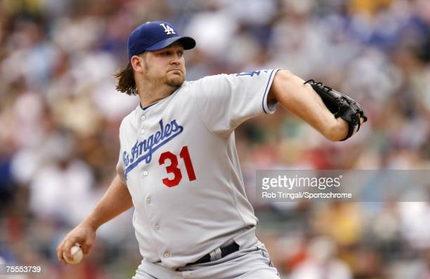 Brad Penny of the Los Angeles Dodgers pitches against the Pittsburgh Pirates on June 3, 2007 at PNC Park in Pittsburgh, Pennsylvania. The Dodgers...