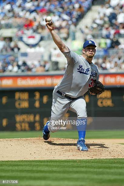 Brad Penny of the Los Angeles Dodgers pitches during the game against the San Diego Padres at Petco Park in San Diego California on April 5 2008 The...
