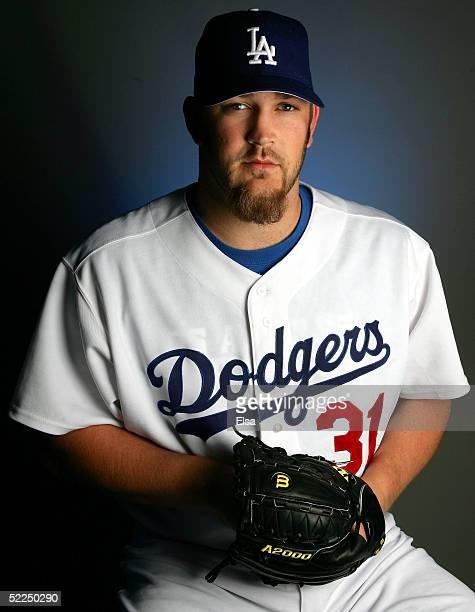 Brad Penny of the Los Angeles Dodgers poses during the Los Angeles Dodgers Portrait Day on February 27, 2005 at Holman Stadium in Vero Beach, Florida.