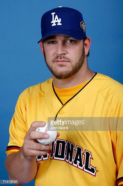 Brad Penny of the Los Angeles Dodgers poses for a portrait during the 2006 AllStar Game Workout Day on July 10 2006 at PNC Park in Pittsburgh...
