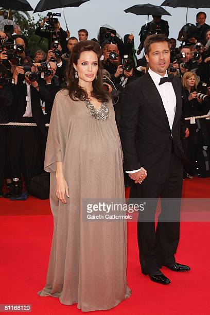 Brad Pitt and Angelina Joile arrive for the 'Changeling' Premiere at the Palais des Festivals during the 61st International Cannes Film Festival on...