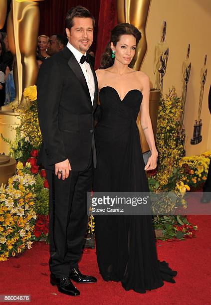 Brad Pitt and Angelina Jolie arrives at the 81st Academy Awards at The Kodak Theatre on February 22 2009 in Hollywood California