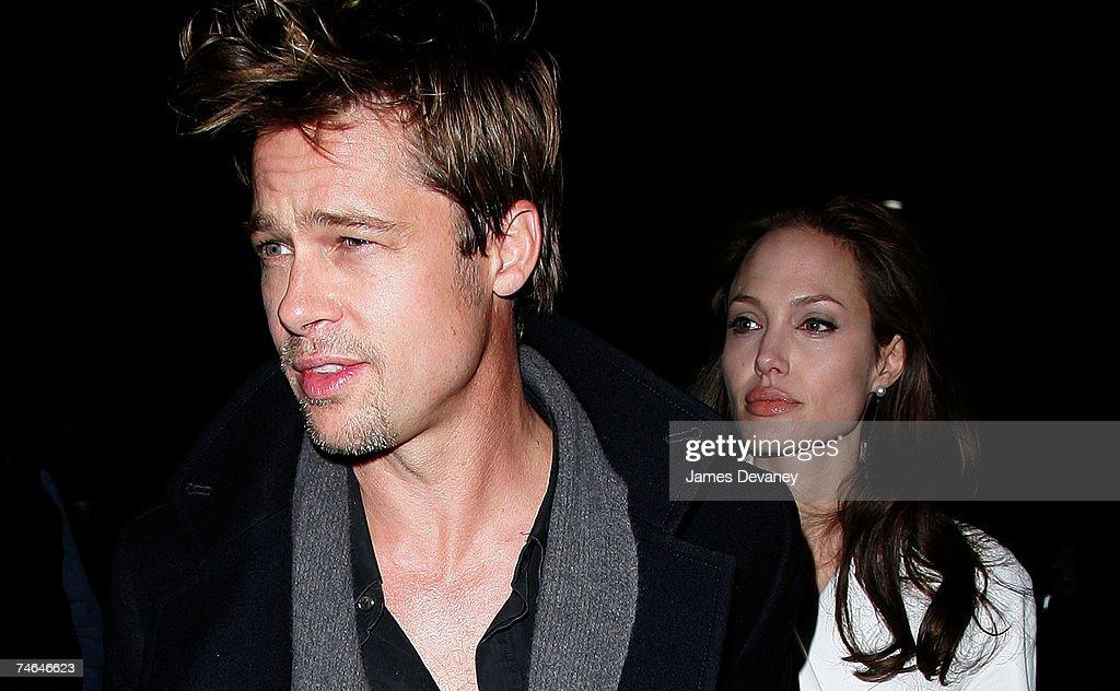Brad Pitt and Angelina Jolie Sighting In New York City - December 10, 2006 : News Photo