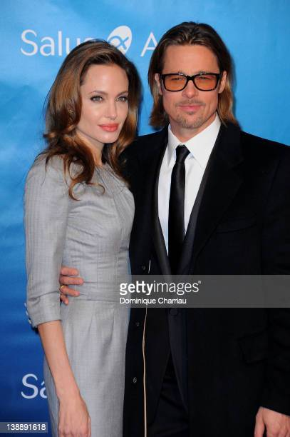 Brad Pitt and Angelina Jolie attend the Cinema for Peace Gala at the Konzerthaus Am Gendarmenmarkt during day five of the 62nd Berlin International...