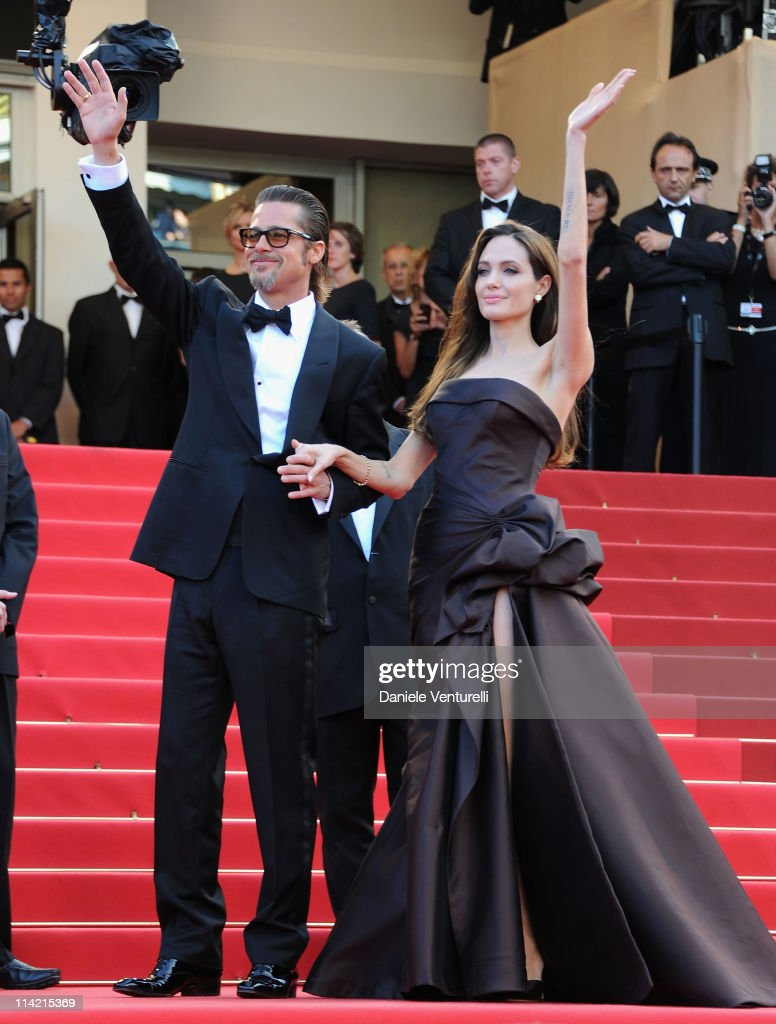 Brad Pitt and Angelina Jolie attend 'The Tree Of Life' Premiere during the 64th Annual Cannes Film Festival at Palais des Festivals on May 16, 2011 in Cannes, France.