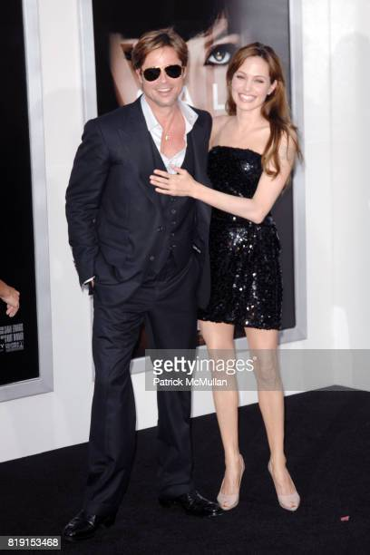 "Brad Pitt and Angelina Jolie attend WORLD PREMIERE OF COLUMBIA PICTURES ""SALT"" at Grauman's Chinese Theatre on July 19 2010 in Hollywood CA"