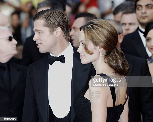 Brad Pitt and Angelina Jolie during 2007 Cannes Film Festival 'A Mighty Heart' Premiere Arrivals at Palais des Festivals in Cannes France