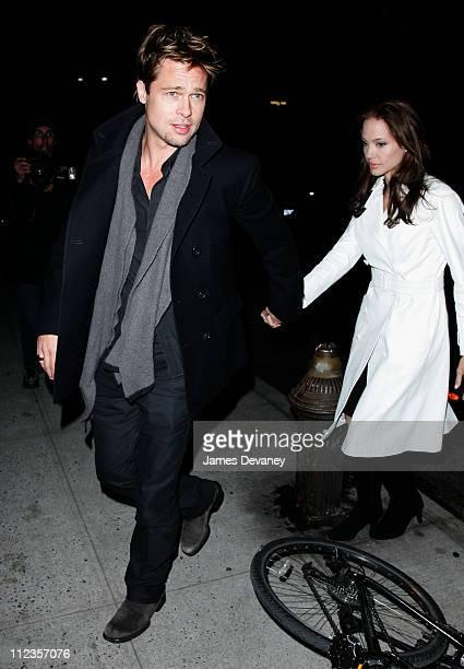 Brad Pitt and Angelina Jolie during Brad Pitt and Angelina Jolie Sighting In New York City December 10 2006 at Streets of Manhattan in New York City...