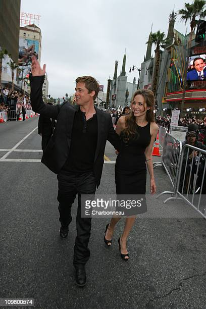 Brad Pitt and Angelina Jolie during Warner Bros Pictures Village Roadshow Pictures Jerry Weintraub and Section 8 Productions Host the North American...