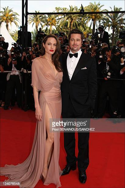 """Brad Pitt and Angelina Jolie on the red carpet for the movie """"Inglourious Basterds"""" at the 62nd Cannes Film Festival In Cannes, France On May 20,..."""