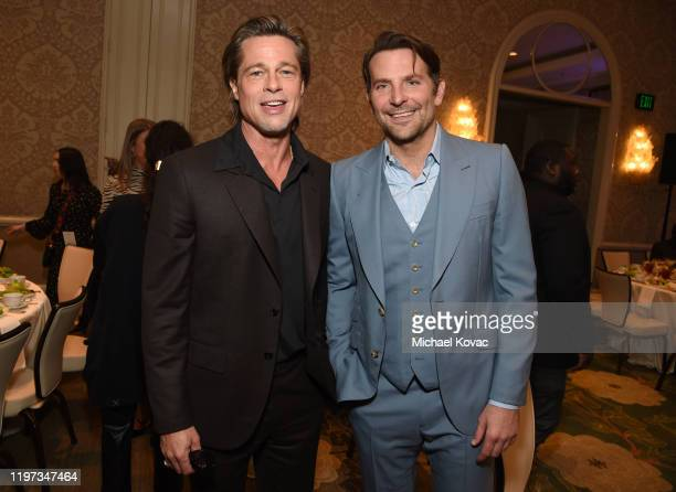 Brad Pitt and Bradley Cooper attend the 20th Annual AFI Awards at Four Seasons Hotel Los Angeles at Beverly Hills on January 03 2020 in Los Angeles...