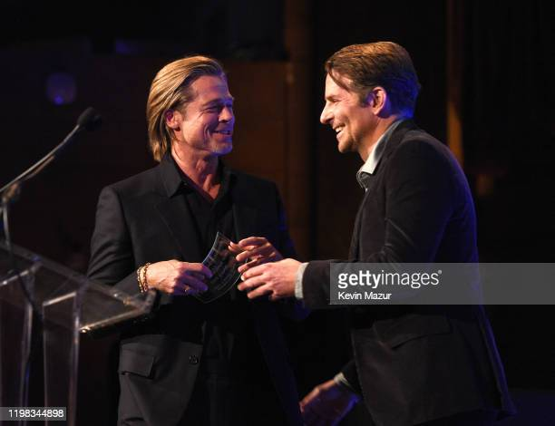 Brad Pitt and Bradley Cooper attend The National Board of Review Annual Awards Gala at Cipriani 42nd Street on January 08, 2020 in New York City.