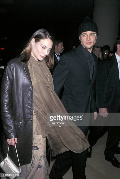 Brad Pitt and Claire Forlani during 50th Annual Writers Guild of America Awards at Roosevelt Hotel in New York City New York United States
