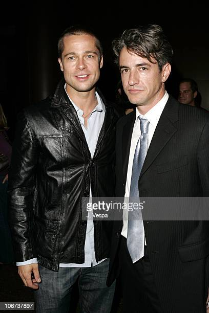 Brad Pitt and Dermot Mulroney attend the Palisades Pictures screening of Going Upriver The Long War of John Kerry to kick off its college tour and...