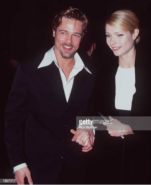 Brad Pitt and Gwyneth Paltrow arrive at the Golden Globe Awards at the Beverly Hilton in Beverly Hills California January 21 1996 On July 27 it has...