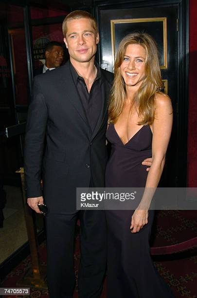 Brad Pitt and Jennifer Aniston at the Zeigfeld Theater in New York City New York