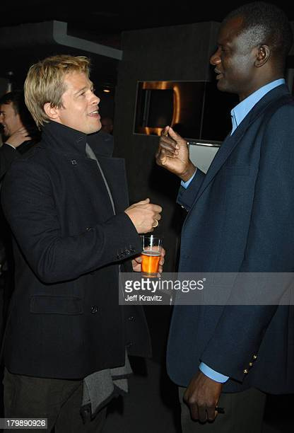 Brad Pitt and John Bul Dau during God Grew Tired of Us Los Angeles Premiere After Party at Pacific Design Center in Los Angeles California United...