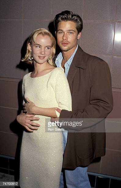 Brad Pitt and Juliette Lewis at the AMC Theater in Santa Monica CA