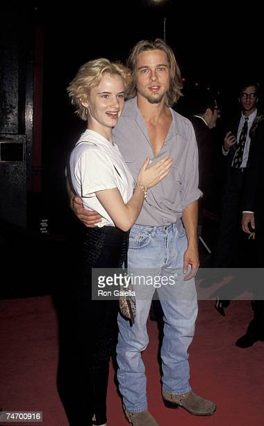 Brad Pitt and Juliette Lewis at the Mann's Chinese Theater in New York City NY