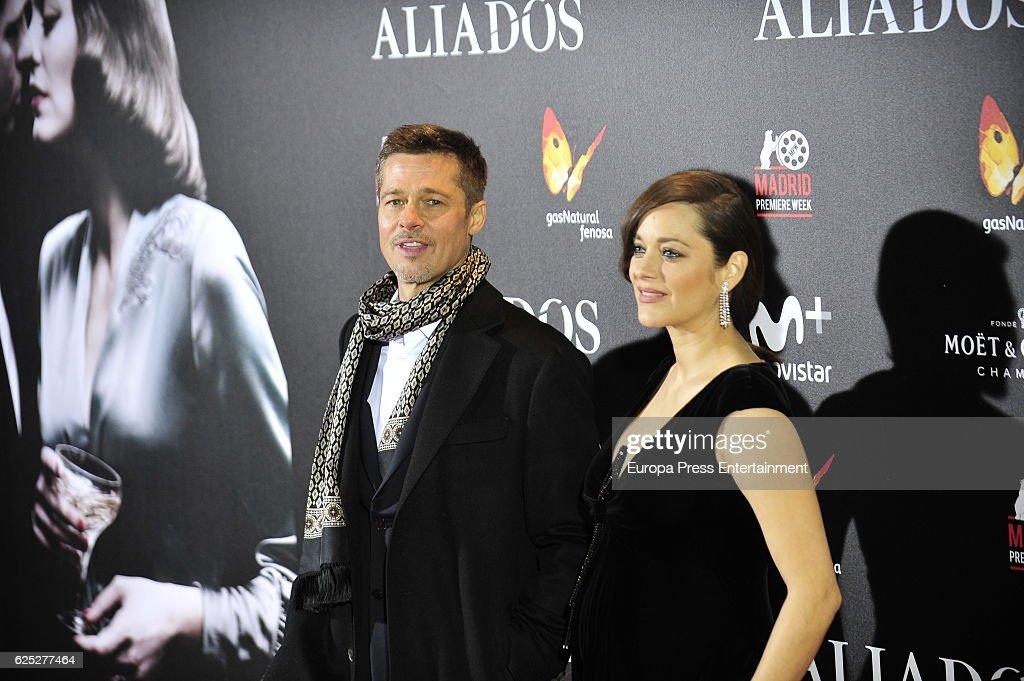 'Allied' (Aliados) Madrid Premiere : News Photo