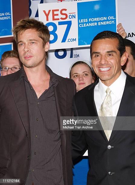 Brad Pitt and Mayor of Los Angeles Antonio Villaraigosa