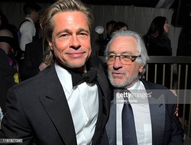 Brad Pitt and Robert De Niro attend the Netflix 2020 Golden Globes After Party on January 05 2020 in Los Angeles California