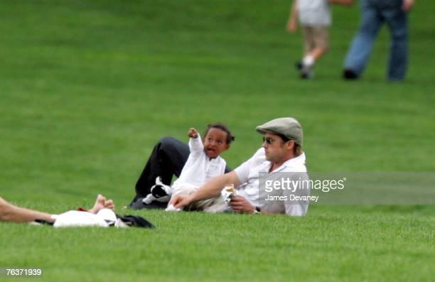 Brad Pitt and Zahara JoliePitt visit Central Park on August 28 2007 in New York City