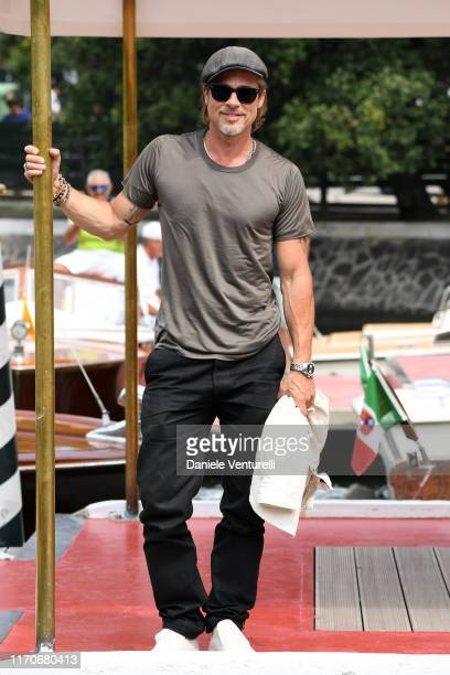 Brad Pitt arrives at the 76th Venice Film Festival on August 28 2019 in Venice Italy