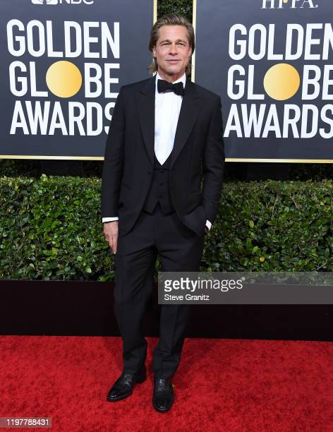Brad Pitt arrives at the 77th Annual Golden Globe Awards attends the 77th Annual Golden Globe Awards at The Beverly Hilton Hotel on January 05 2020...