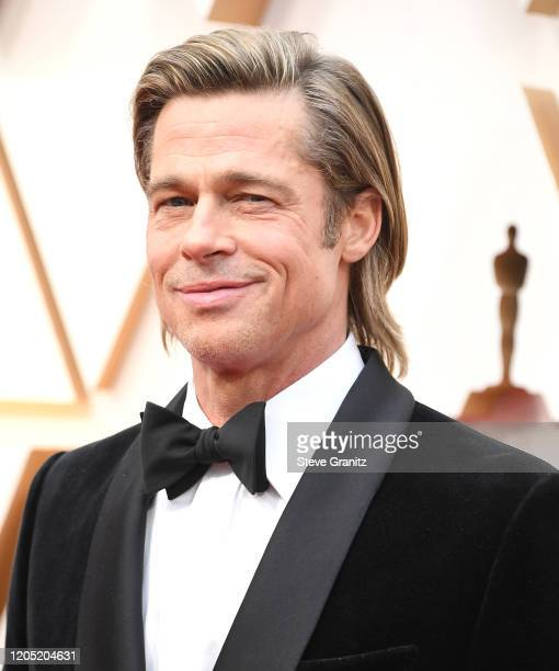 Brad Pitt arrives at the 92nd Annual Academy Awards at Hollywood and Highland on February 09 2020 in Hollywood California