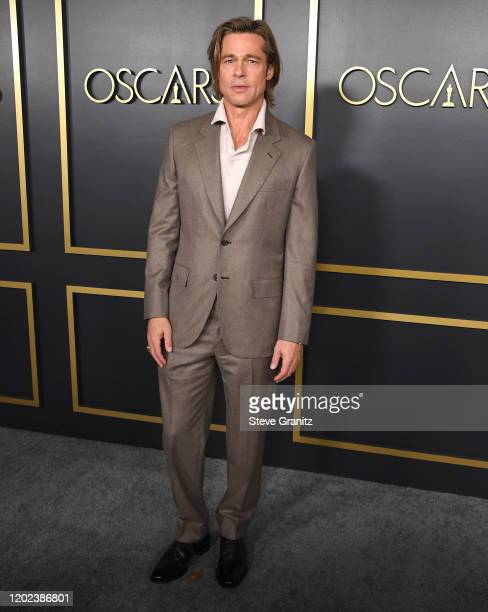 Brad Pitt arrives at the 92nd Oscars Nominees Luncheon on January 27, 2020 in Hollywood, California.