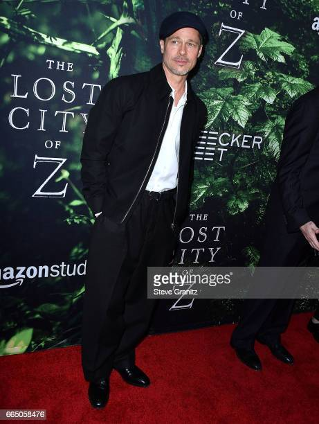 Brad Pitt arrives at the Premiere Of Amazon Studios' 'The Lost City Of Z' at ArcLight Hollywood on April 5 2017 in Hollywood California
